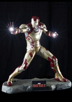 Iron Man Mark XLII Statue, Iron Man 3, 52 cm | BlacksBricks