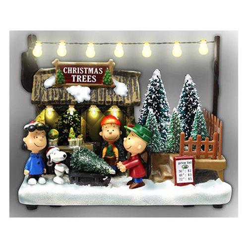 Christmas Tree Shop Diorama With Sound Light Up Peanuts 18 Cm