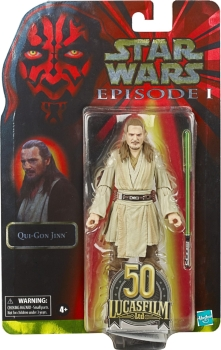 Qui-Gon Jinn Action Figure Black Series 50th Anniversary Exclusive, Star Wars: Episode I, 15 cm