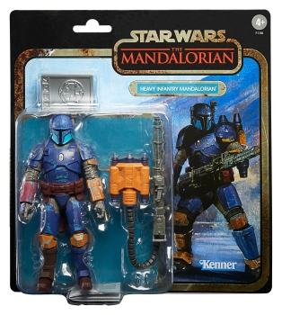 Heavy Infantry Mandalorian Action Figure Black Series Credit Collection Exclusive, Star Wars: The Mandalorian, 15 cm