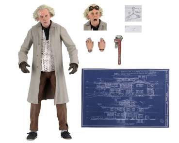 Ultimate Doc Brown Action Figure 35th Anniversary, Back to the Future, 18 cm
