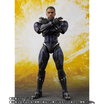 Black Panther (King of Wakanda) Actionfigur S.H.Figuarts Web Exclusive, Avengers: Infinity War, 15 cm