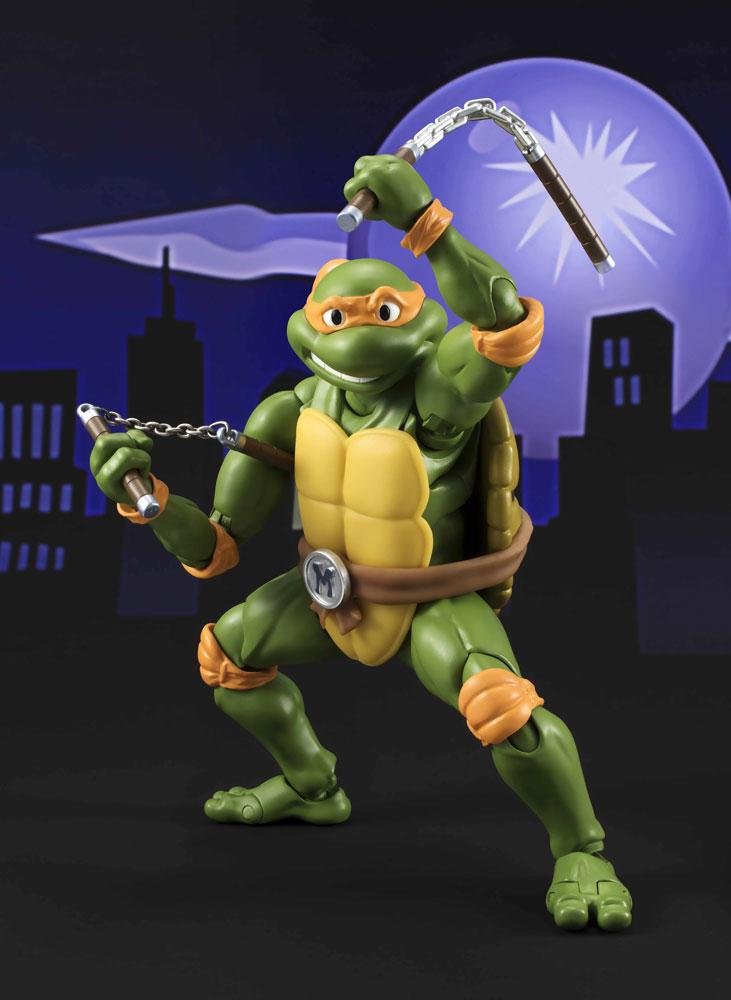 Bandai FIGUARTS TMNT TURTLES MICHELANGELO SHF 15 CM