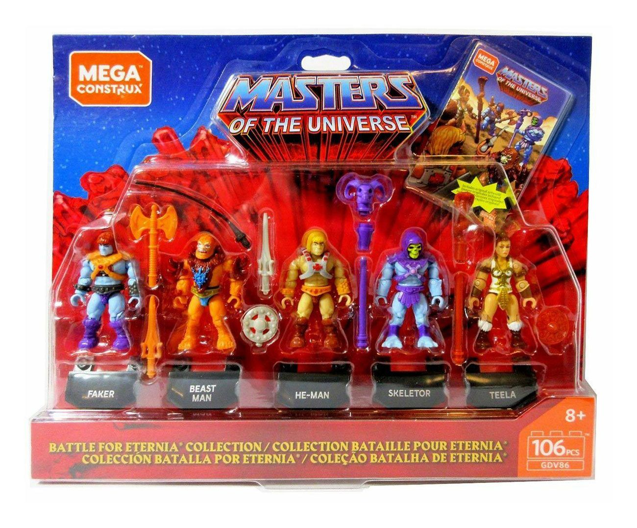 Mega CONSTRUX HEROES Masters of the Universe Série 2 Beast Man