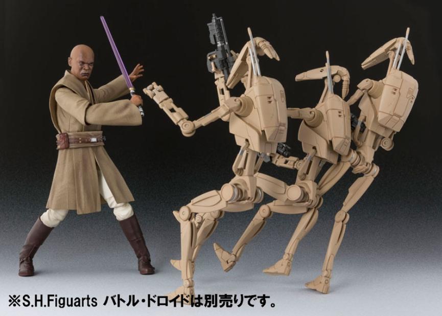 BANDAI S.H.Figuarts Star Wars Mace Windu Episode II Attack of the Clones Japan
