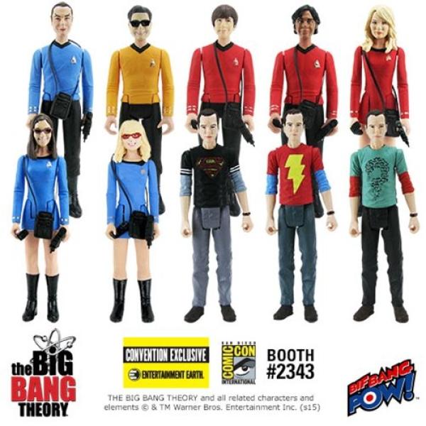 The Big Bang Theory Sheldon 3 3//4-Inch Action Figures set of 4!